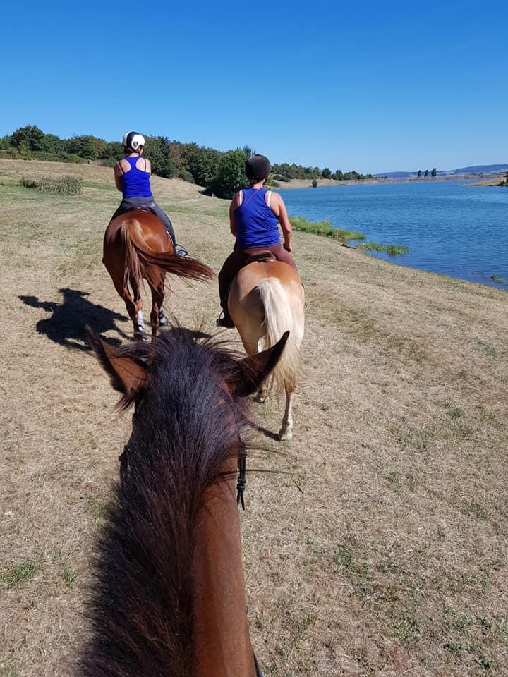 Sortie cheval lac de la madone